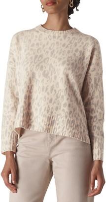Whistles Freida Animal Pattern Merino Wool Sweater