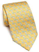 Salvatore Ferragamo Elephant Flower Monk Tie