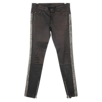 Sly 010 Sly010 Black Leather Trousers for Women