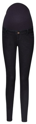 Dorothy Perkins Womens Maternity Indigo Overbump 'Ashley' Skinny Jeans