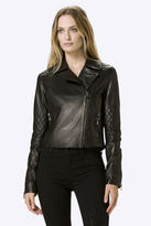 J Brand Adaire Leather Jacket in Black