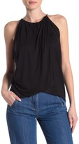 Solid Knit Wrap Tank Top