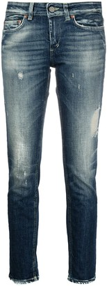 Dondup Bleached Wash Distress Jeans