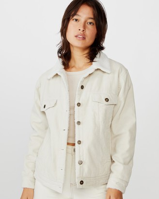 Cotton On Sherpa Cord Trucker Jacket