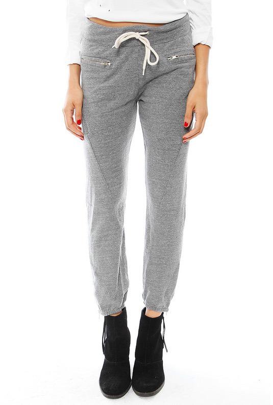 Monrow Zipper Sweatpants in Grey
