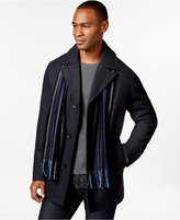 Perry Ellis Men's Big and Tall Wool-Blend Scarf Coat