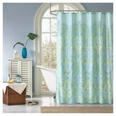 Nobrand No Brand Piper Paisley Print Microfiber Shower Curtain - Teal