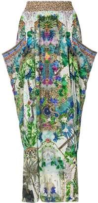 Camilla Moon Garden shirred maxi skirt