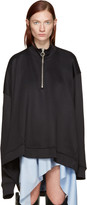 Marques Almeida Black Oversized Zip Pullover
