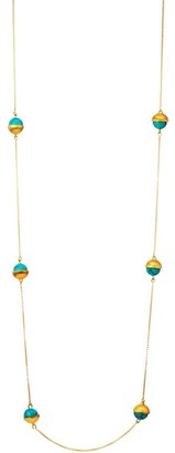 Dean Davidson Nomad 22K Yellow Goldplated & Turquoise Charm Necklace
