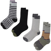 Lucky Brand Stripes Crew Cut Socks - Pack of 4