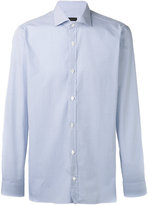 Z Zegna micro design long sleeve shirt - men - Cotton - 39