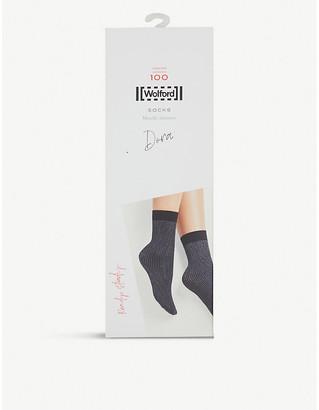 Wolford Dora shimmer woven socks