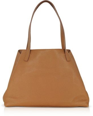 Akris Brown Embossed Leather Ai Small Shoulder Bag