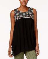 Style&Co. Style & Co Embroidered Handkerchief-Hem Tunic, Only at Macy's