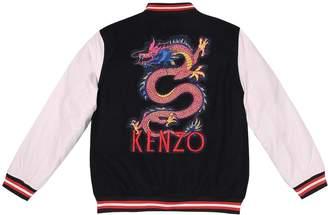Kenzo Logo patch varsity jacket