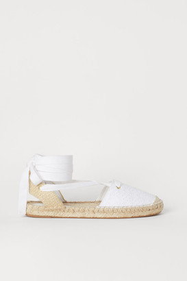 H&M Espadrilles with Lacing - White