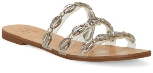 INC International Concepts Inc Women's Voma Shell Strappy Slide Sandals, Created for Macy's Women's Shoes