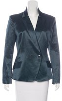 Theyskens' Theory Double-Breasted Notch-Lapel Blazer