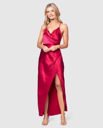 Pilgrim Women's Red Slip Dresses - Abrielle Gown - Size One Size, 12 at The Iconic