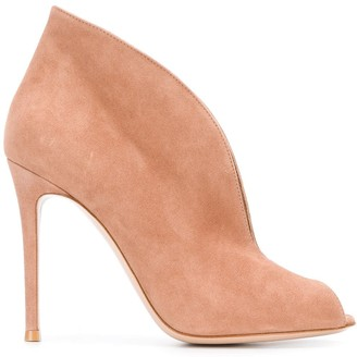 Gianvito Rossi Peep-Toe Booties