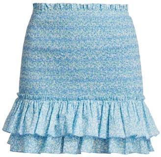 Jonathan Simkhai Sydney Floral Smocked Skirt