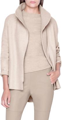 Akris Cashmere Jersey Zip-Front Jacket