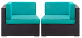 Convene Outdoor Patio Sectional Corner Chairs (Set of 2)