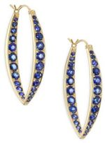 Ila Ceylon Garrison Pave Blue Sapphire & 14K Yellow Gold Hoop Earrings