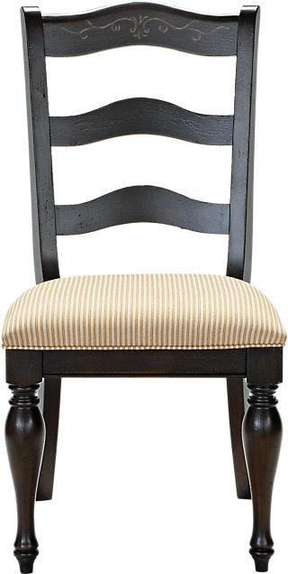 Cindy Crawford Home Heatherwoods Chocolate Ladder Back Side Chair