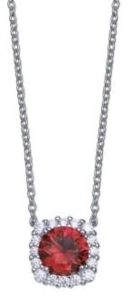 Giani Bernini Multi Colored Cubic Zirconia Cushion Shape Pendant Necklace in Sterling Silver