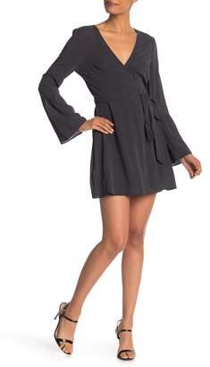 BCBGeneration Bell Sleeve Printed Dress