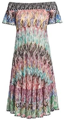 Missoni Abito Iridescent Off-The-Shoulder Shift Dress