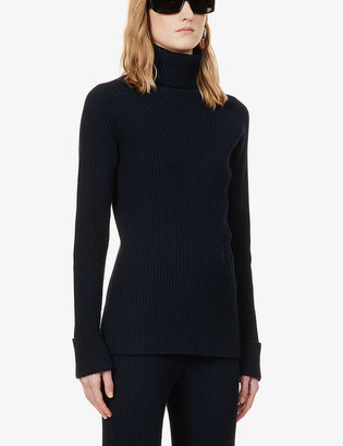Chloé Turtleneck loose-fit wool and silk-blend top