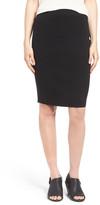 Eileen Fisher Knee Length Wool Crepe Knit Skirt
