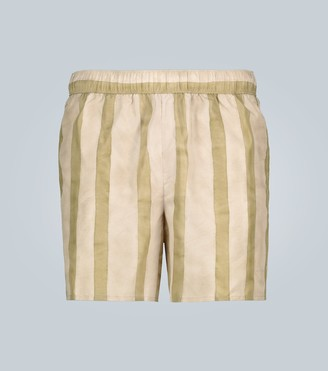 Acne Studios Striped swim shorts