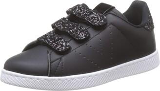 Victoria Boy's Tenis Velcros Pu/Glitter Trainers Black (Negro 10) 2.5 UK
