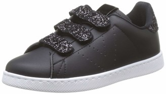 Victoria Unisex Adults Tenis Velcros Pu/Glitter Trainers Black (Negro 10) 2.5 UK