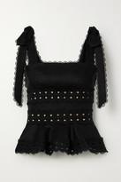 Zimmermann Kirra Crochet-trimmed Linen Top