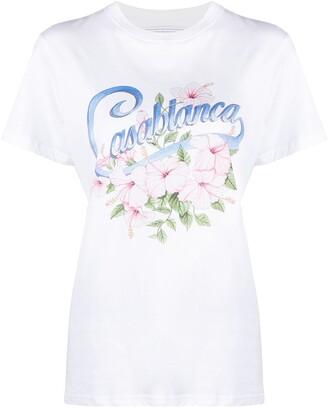 Casablanca logo-print short-sleeved T-shirt