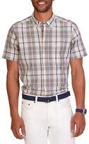 Nautica Classic Fit Plaid Short Sleeved Shirt