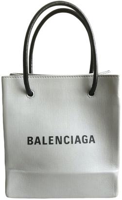 Balenciaga Shopping North South Grey Leather Handbags