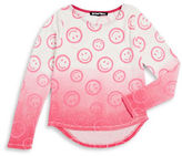 Planet Gold Girls 7-16 Smiley Face Knit Pullover