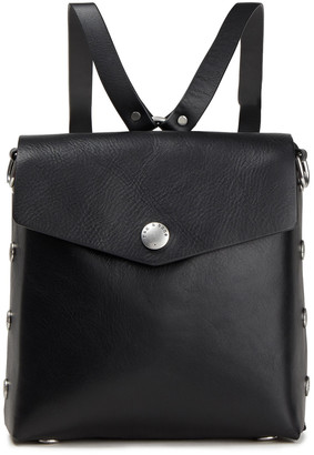 Rag & Bone Atlas Snap-detailed Smooth And Textured-leather Backpack
