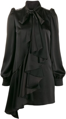 John Richmond Embellished Shoulder Pad Dress