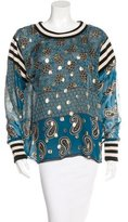 Anna Sui Silk Long Sleeve Top