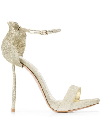 Le Silla Glittered Petal Back Sandals