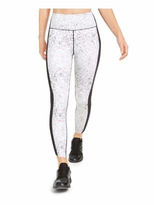 Ideology Womens White Snake Print Skinny Active Wear Leggings Size: XL