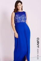 Little Mistress Curvy Cobalt Lace Maxi Dress