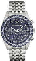 Emporio Armani Stainless Steel Link Bracelet Chronograph
